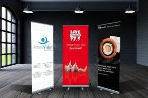 rollup banner flags